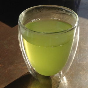 When steeped, the Kabusecha liquor is a deep, almost brilliant, green.