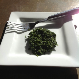 Freshly steeped Kabusecha leaves