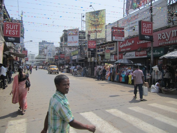 A typical street in Kolkata, India.