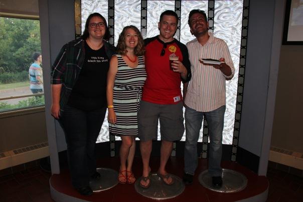TeaSource staff enjoying Make It So and the Star Trek transporter with brewer Nick Hempfer